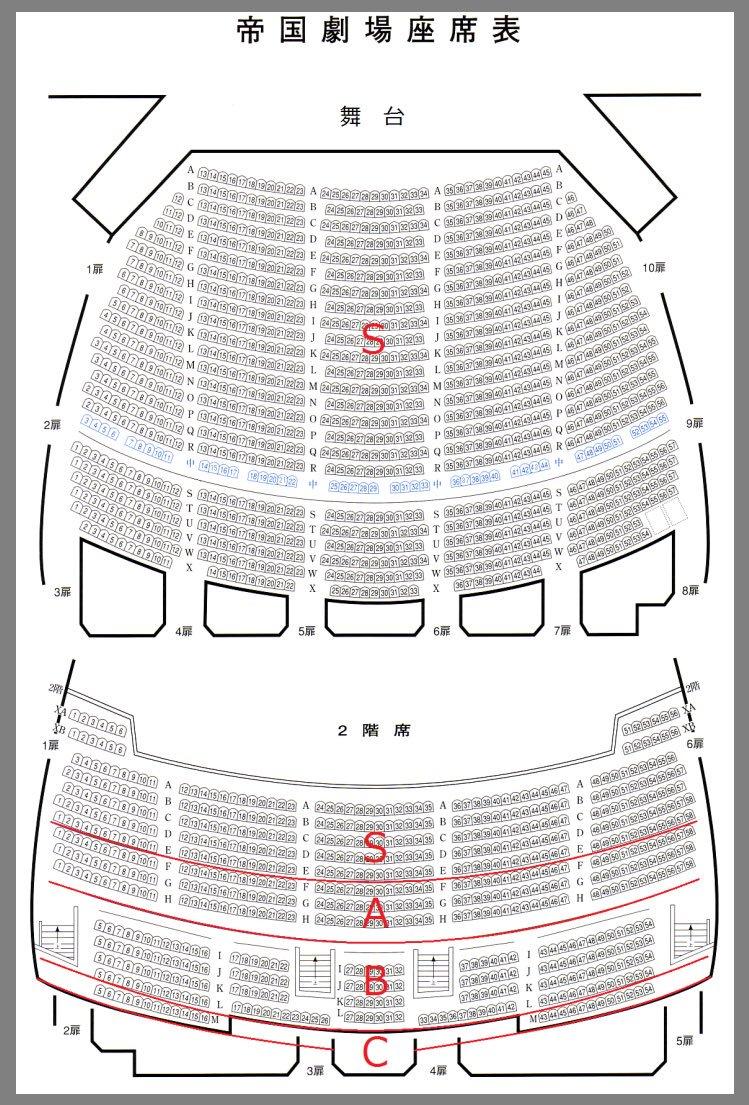 ジャニアイ・キンプリアイランドの座席表(予想)